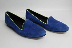 KURT-GEIGER-Ladies-Blue-amp-Green-Suede-Round-Toe-Low-Heel-Loafer-Shoes-EU39-UK6