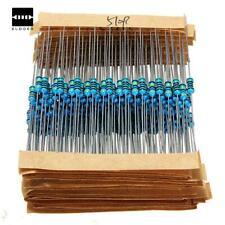 640pcs 1r 10mr 14w 1 Metal Film Set Resistor Noise Low Mix Pack Assortment