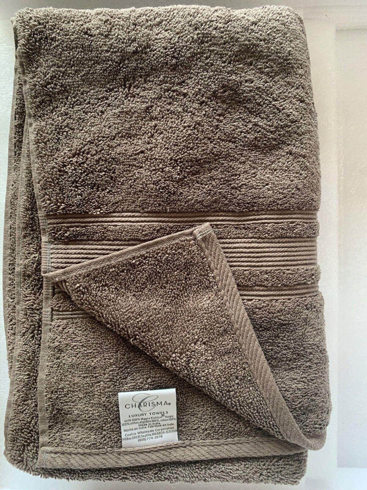 Charisma 100% Hygrocotton Bath Towel 30 in x 58 in, Dark Grey. Customer Returned