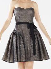 New with tag $448 BCBG Max Azria Kimmy Ruffled Metallic Lace B707 Dress Sz 4