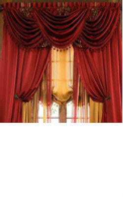 Luxury HILTON WINDOW TREATMENT,window curtain: Panel or valance,royal velvet