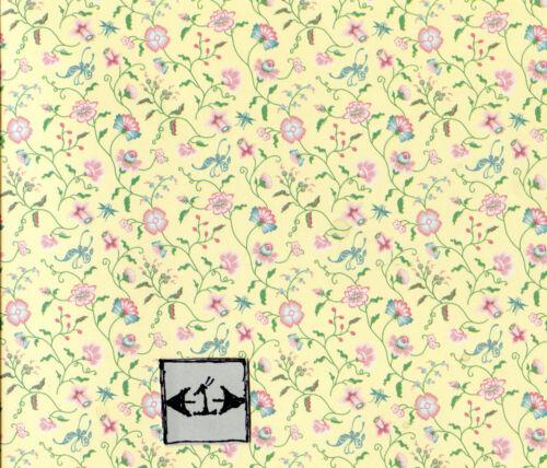 "Raspberry/"" 1FR111 Floral wallpaper dollhouse 1/"" scale Brodnax Prints /""Papillon"