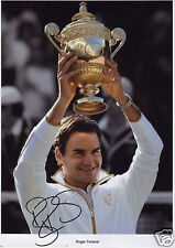 ROGER FEDERER AUTOGRAPH SIGNED PP PHOTO POSTER