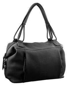 5dd616f204f Details about Pierre Cardin Leather Tote Handbag Black Designer Bag