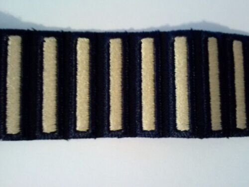 US Army Male Class A Overseas Regulation Bars Gold on Blue 6 Piece Set Made USA