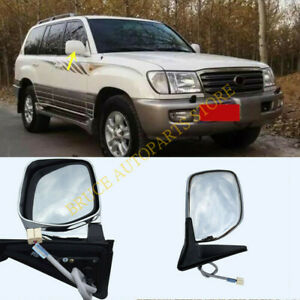 3-Line Electric Rear View Mirror Right White for Land Cruiser Lexus LX470 98-07