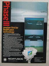 1982 PUB REDIFFUSION SIMULATION SIMULATOR BOEING 737 AIR FLORIDA ORIGINAL AD