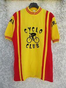 Maillot-cycliste-CYCLO-CLUB-BRAX-vintage-trikot-70-039-s-imprimerie-BERGERON-shirt-4