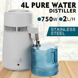 4L Home Countertop Stainless Steel Interior Water Distiller Purifier Machine CE
