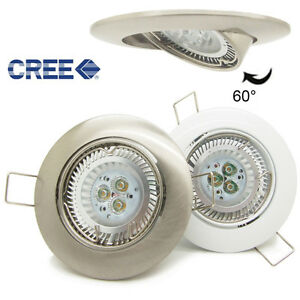 10x 6w cree led recessed downlight gimble kit ceiling spot light gu10 dimmable ebay. Black Bedroom Furniture Sets. Home Design Ideas