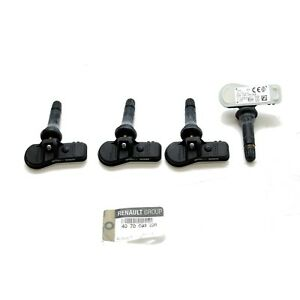 4x-Original-Renault-RDKS-TPMS-Reifendrucksensor-Luftdrucksensor-407009322R