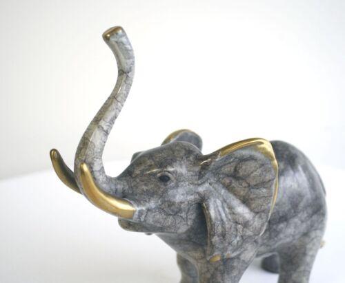 Bronzeskulptur kleiner Elefant Gartenfigur Dekoration