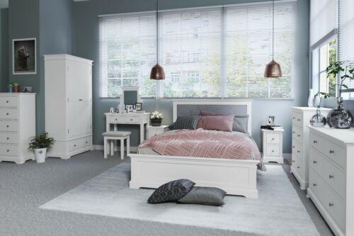 KNIGHTSBRIDGE WHITE TRINKET MIRROR SOLID WOOD ANGLED BEDROOM MIRROR