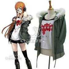 Persona 5 Roleplay Sakura Futaba Cosplay Costume Shirt Coat Shorts Full Set