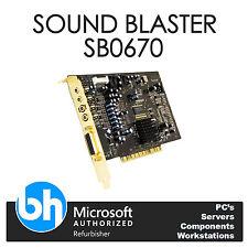 HP Sound Blaster Creative Labs X-Fi SB0670 Internal Sound Card PCI 417723-001