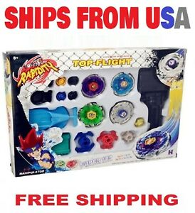Beyblade-Metal-Fusion-Masters-Fight-Launcher-Rare-Toy-Set-4D-USA-Seller