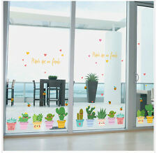 "Wall Sticker Window Decals Pot Flower Cactus Vinyl Decor DIY ""Pot Culture"""