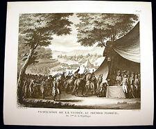 Pacification de la Vendée le premier floréal Révolution française Girardet XIXè