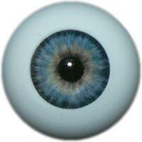 Reborn Dolls, Premium Acrylic Full Round Eyes Color 57 Blue 16 Mm