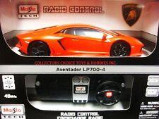 MAISTO TECH R/C 49MHz 1/24 LAMBORGHINI AVENTADOR LP700-4 ORANGE 81057