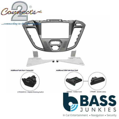CT23FD38 Ford Transit Custom 2012 On Car Stereo Double Din Fascia Facia Panel