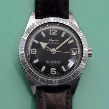 Vintage 60's KINGSTON Broad Arrow Divers Watch Beautiful Dial Rotating Bezel