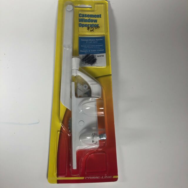 Cover /& Lock Bright Brass NEW Pella Window Hardware Left Hand Casement Crank