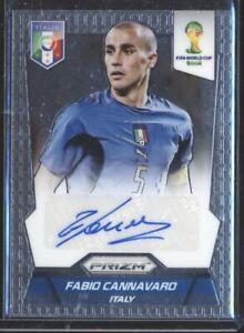 Fabio Cannavaro 2014 Panini Prizm World Cup Italy Autograph AUTO SA0416ML