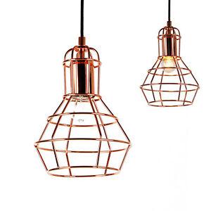 Lux-Pro-Lampara-colgante-cobre-de-techo-lampara-de-colgar-retro-diseno-vintage