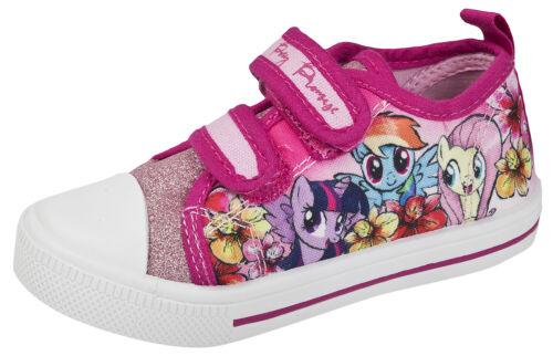 My Little Pony Glitter Canvas Pumps Girls Skate Plimsolls Summer Shoes Kids Size