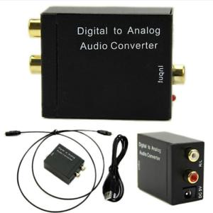 3.5mm Digital Optical Coax Coaxial Toslink Analog Audio Converter Adapter RCA