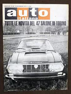 Rivista-Automobilismo-Auto-Italiana-N-45-1965-Novita-del-Salone-di-Torino