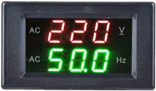 Voltage Frequency Meter Generator Dual Display Led Digital Ac Voltmeter Black
