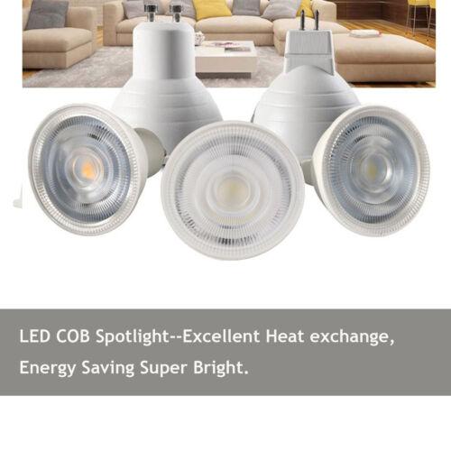 Dimmable GU10 COB LED Spotlight 7W MR16 GU5.3 Bulbs Light 110V 220V White Lamp