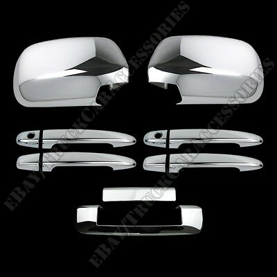 For CHEVY Impala 2006-2012 2013 Chrome Covers Set Full Mirrors 4 Doors w//o PK