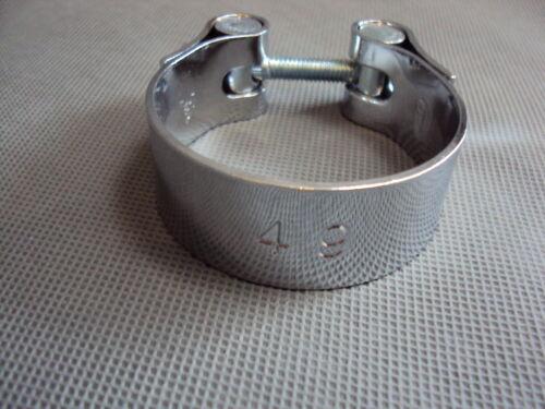 Scarico Morsetto Cromo 49 mm range di serraggio 48-51mm Moto Roller auto