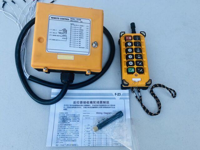AC 110V Single Emitter Hoist Crane Radio Wireless Remote Control Switch F23-BB