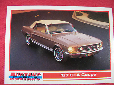 1967 GTA Coupe # 105 Mustang Cards Trading Cards