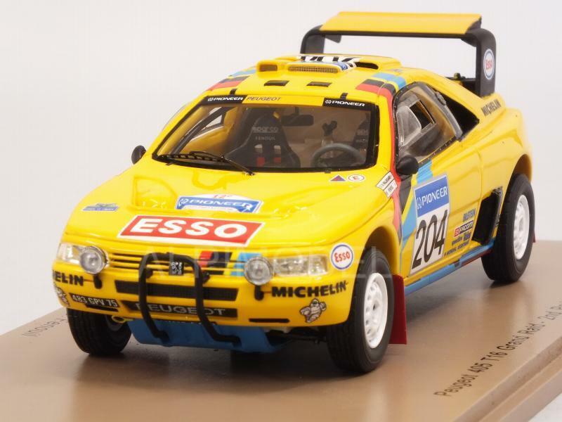 Peugeot 405 t16 Paris-Dakar  Rally 1990 waldegard-fenouil 1 43 spark s5625  peu coûteux
