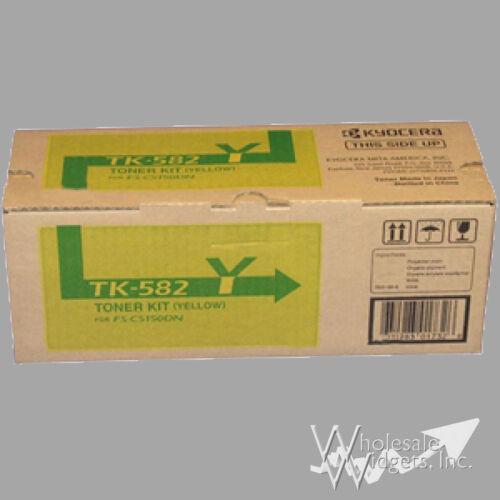 New Genuine Kyocera Mita TK-582Y Toner Kit TK582 Yellow Cartridge FS TK582Y