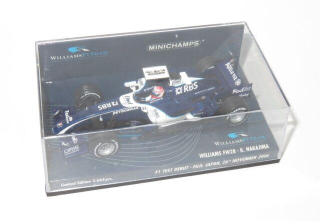 1/43 Williams TOYOTA FW28 F1 test debutto Fuji 2006 K. Nakajima