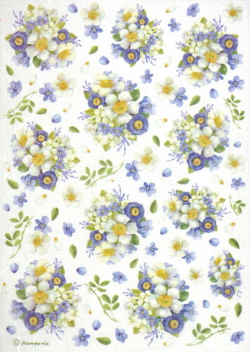 Rice Paper for Decoupage Scrapbook Craft Sheet-Lilac Bouquet