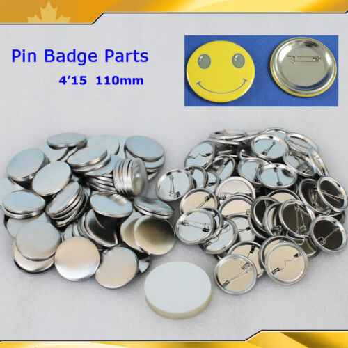 """4/""""15 110mm 100sets Pin Badge Button Parts Supplies For pro button maker DIY HOT!"""