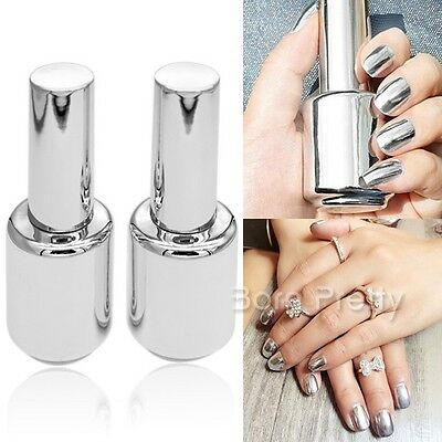 2 Stk 15ml Nagellack Mirror Nail Polish & 15ml Top Coat