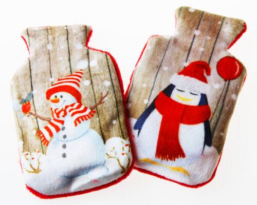 pingouin réutilisables Kit de 2 lames polaire très douillet poches chauffe-Bonhomme de neige