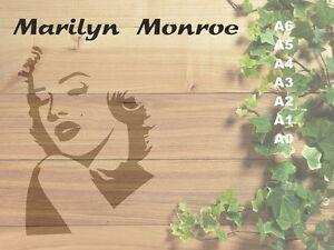 Marilyn-Monroe-Stencil-350-micron-Mylar-not-thin-stuff-Fam10
