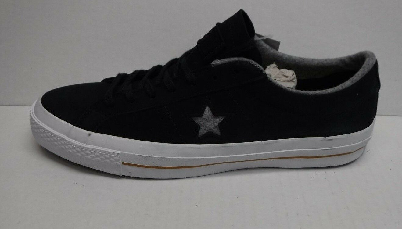 Converse Size 11 Black Leather Sneakers New Mens shoes