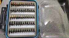 72 BH Caddis Larva Fly Box - Trout Wet Flies Fly Fishing Flies US Veteran Owned
