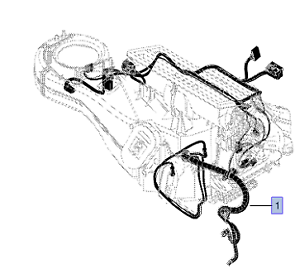 image is loading vauxhall-wiring-harness-genuine-new-13214728