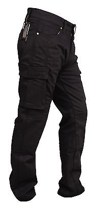 GBG Motorbike Motorcycle Armour Cargo Trouser Pants Jeans With Protective Lining